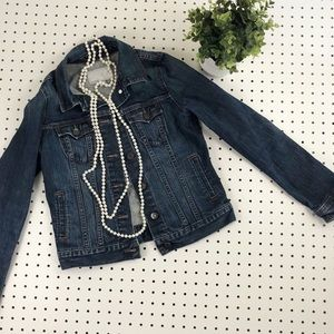 Back to school girls jean jacket denim EUC staple